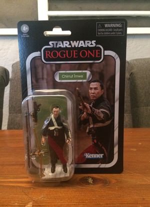Star Wars The Vintage Collection Rogue One #174 Chirrut Îmwe action figure new for Sale in Puyallup, WA