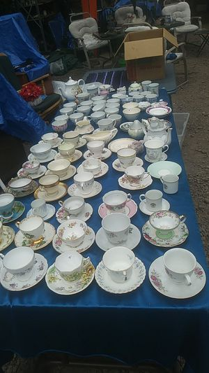 Teacups and saucers bone china and much more for Sale in Washougal, WA