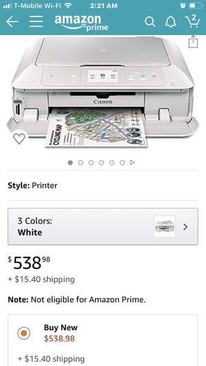 currently been sold on Amazon for $538.00 It also has 2yr warranty. Canon MG7720 Wireless All-In-One Printer with Scanner and Copier: Mobile and T for Sale in Brooklyn, NY