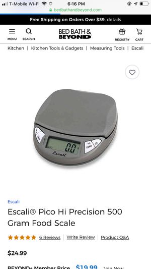 Escali digital scale for kitchen for Sale in Fountain Valley, CA