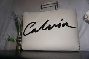 CK sculpted leather tote bag MSRP $118 for Sale in Riverside, CA