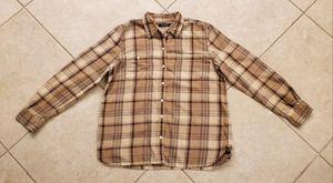 Lauren Ralph Lauren Women's Plaid Button Front Shirt Size L Tan/Brown for Sale in Brooksville, FL