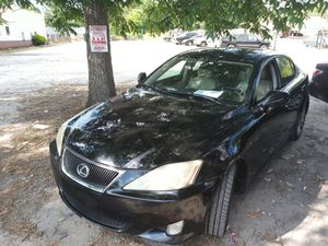 2008 LEXUS IS2500 FOR SALE RUN AND DRIVE GOOD WITH LEATHER AND SUNROOF WITH NAVIGATION SYSTEM BACK UP CAMERA 140000 MILES for Sale in Decatur, GA