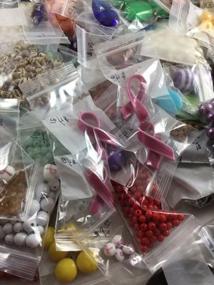 Lots of reclaimed beads from jewelry, cleaned, make your creations unique, prices vary per bag, the more you buy the better the price for Sale in Chesapeake, VA