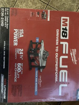 Milwaukee table saw one key m18 for Sale in Sunnyvale, CA