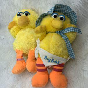 Vintage Big Bird Baby Sesame Street Plush Lot of 2 for Sale in Bentonville, AR