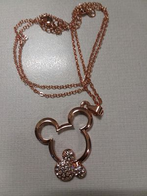 Pretty Mickey Mouse Necklace with Crystals *** for Sale in The Bronx, NY