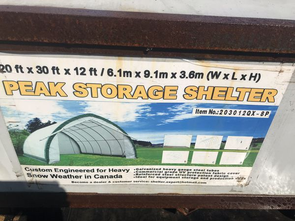 Storage Shelter-never been opened!