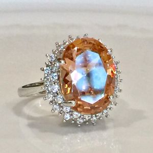 925 sterling silver plated 925 stamped morganite ring size 6,8,9 available for Sale in Silver Spring, MD