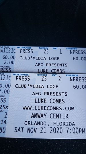 Sold out ! LUKE COMBS $200 each for Sale in Orlando, FL