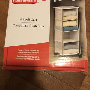 Rubbermaid 4 Shelf Cart With Wheels for Sale in Germantown, MD