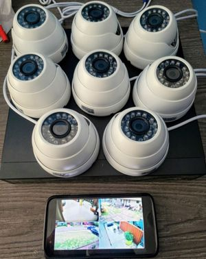 8 x 1080p Security cameras with memory recorder and labor included.. hablo espanol for Sale in Fort Worth, TX