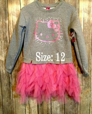 Little Girls Hello Kitty dress Jersey construction with Tulle skirt overlayNWT for Sale in Houston, TX
