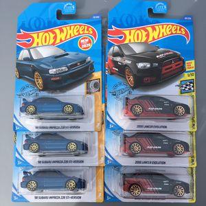 Hot wheels Subaru Impreza sti Mitsubishi Lancer Evo collectible die cast toy cars $3 ea trade Hotwheels honda Datsun Mazda Civic crx integra S2K for Sale in Colton, CA