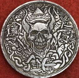 Devil skull coin. Tibetan silver. First $20 offer automatically accepted. Shipped same day for Sale in Happy Valley,  OR