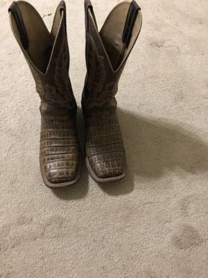 Size 8 Caiman Belly Boots for Sale in Grand Prairie, TX