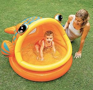 INTEX Lazy Fish Shade Baby Pool 124 x 109 x 71 cm 57109 for Sale in Winter Springs, FL