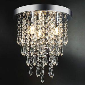Ceiling Mount Round 3 Light Crystal Chandelier For Kitchen Bathroom Bedroom Entryway Closet Office for Sale in Hemet, CA