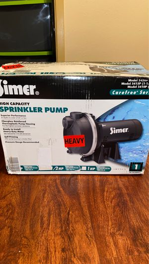 Simer Sprinkler Pump for Sale in Lafayette, LA