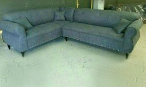 NEW 7X9FT CHARCOAL MICROFIBER SECTIONAL COUCHES for Sale in Laguna Beach, CA