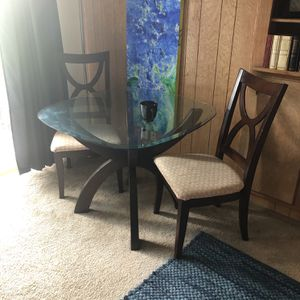Glass Dining Table With 4 Chairs for Sale in San Diego, CA