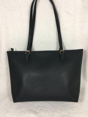 Women's Large Travel Shoulder Bag Tote Messenger - Black Leather for Sale in Henderson, NV