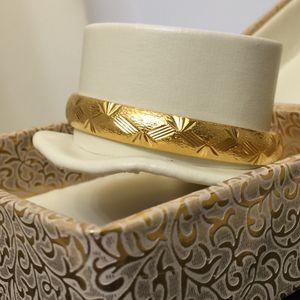 "18k gold filled 18k stamped bracelet bangle 8"" openable for Sale in Silver Spring, MD"