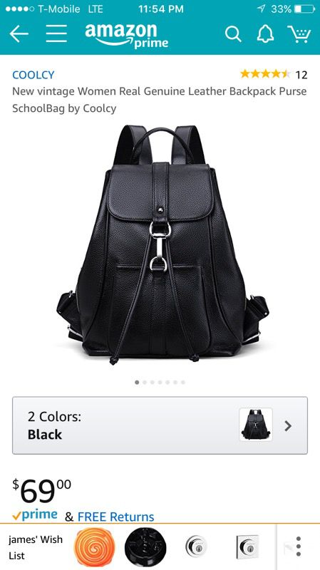 edb9728c9135 New vintage Women Real Genuine Leather Backpack Purse SchoolBag by ...