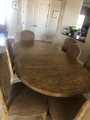 Dining Table w/ 8 chairs & 2 leafs for Sale in Waddell, AZ