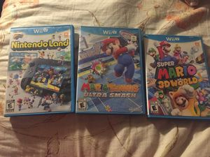 3 Nintendo Wii U games! for Sale in Madison, NJ