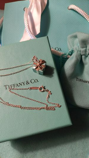 Tiffany & Co Gift Box Bow Charm Necklace for Sale in McKeesport, PA