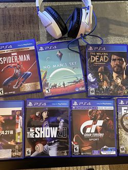 Ps4 Games And Headset HMU For Prices for Sale in Rochester,  NY