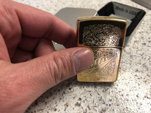 Beautiful Gold Rare Collectible Zippo for Sale in Westminster, CO