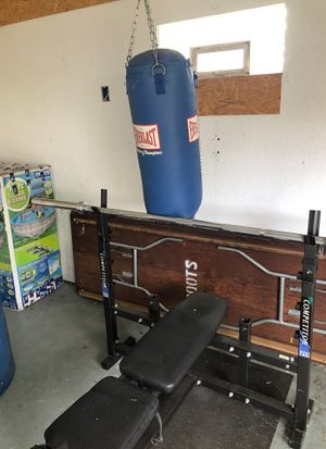 Weight Bench and Punching Bag for Sale in Waterford Township, MI