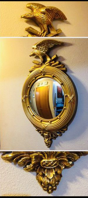 Mid Century Painting Convex Mirror with Eagle Vintage for Sale in Vancouver, WA
