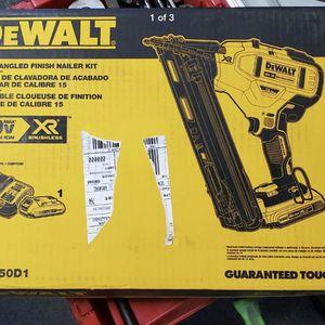 DeWalt 15 GA Cordless Finish Nailer Kit DCN650D1 for Sale in Chesapeake, VA