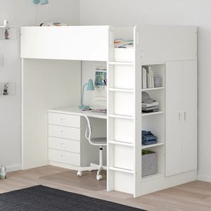 Ikea Stuva Loft Bed with Closet and Desk for Sale in Bremerton, WA