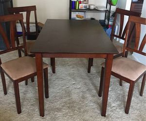 Dining Table- set of 4. Used for 2 months only. Cushions in great shape- no wear & tear. for Sale in Bethesda, MD