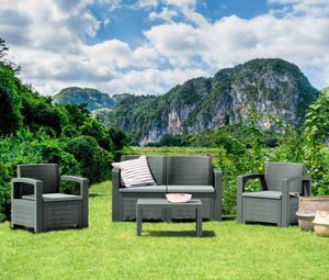 All resin without metals / Furniture / Patio furniture / outdoor furniture / Muebles de patio /patio set for Sale in Pembroke Pines, FL