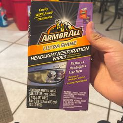 Armor All Headlight Restoration Wipes for Sale in Fontana,  CA