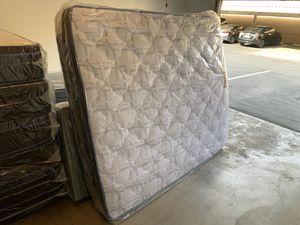 Brand new king size pillow top mattress with the boxspring included same-day delivery available all sizes available for Sale in Fort McDowell, AZ