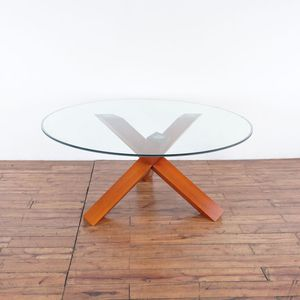 Glass Top Round Dining Table (1025642) for Sale in South San Francisco, CA