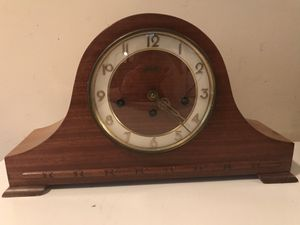 Antique Welby Westminster Chime Tambour Mantle Shelf Clock Serviced w Key German for Sale in Lexington, SC