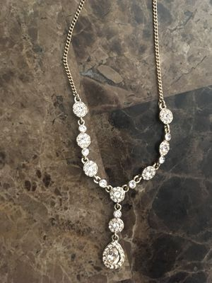 Givenchy Swarovski Crystal 14k gold filled and dipped beautiful chain #OBO for Sale in North Las Vegas, NV