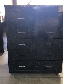 Black Cabinet With Marble Top for Sale in Los Angeles,  CA