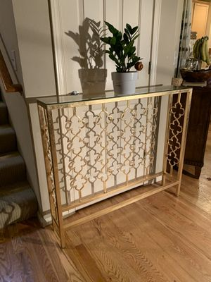 Gold Slim Console Entry Table for Sale in Redmond, WA