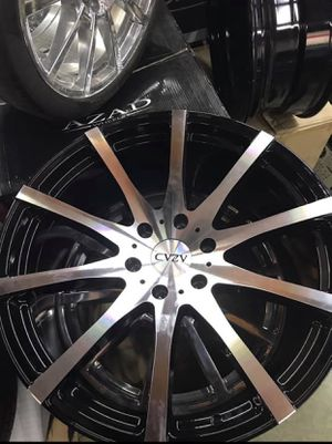 """22"""" Black and Machined Rims & Tires & SENSORS for Sale in Henderson, NV"""