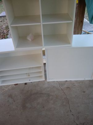 3 white storage shelves. for Sale in Clayton, NC