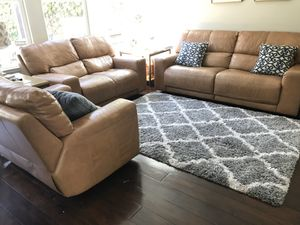 Reclining Leather Sofa Couch Set for Sale in Irvine, CA