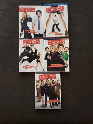 Chuck DVDS FULL SERIES, Season's 1,2,3,4 and final season 5. OBO for Sale in Everett, WA